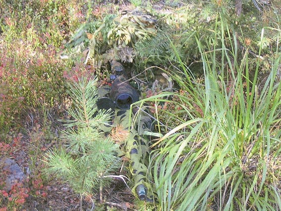 Снайпер-участник на позиции